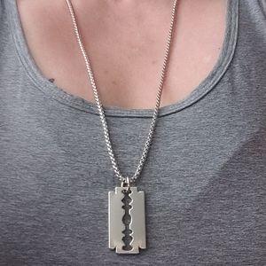 Jewelry - NWT Razorblade Box Chain stainless steel N…